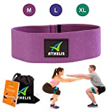 Cheap ATHELIS Hip Band | Thick Booty Resistance Circle Loop (Size: M) Men & Women, Workout Guide & Bag- Made Special Non-Slip Cotton, Ideal Glutes, Legs & Thighs