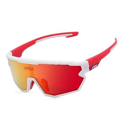 TOPTETN Gafas de Sol Deportivas polarizadas con 3 Lentes Intercambiables, Gafas de Ciclismo para Hombres y Mujeres, Gafas de Bicicleta Gafas de Sol de ...