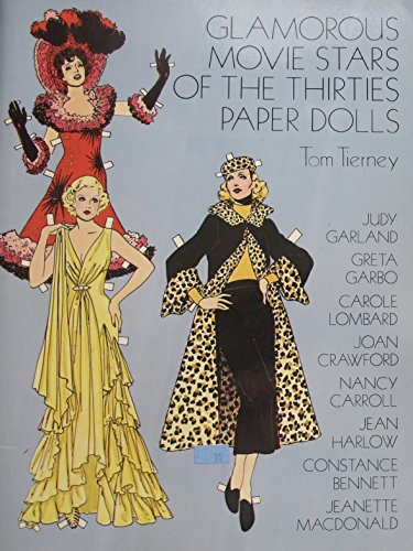 Orphan Costume For Annie Play (Tom Tierney GLAMOROUS MOVIE STARS of The THIRTIES PAPER DOLLS Book (UNCUT) w 8 Cardstock DOLLS Each 7-1/4