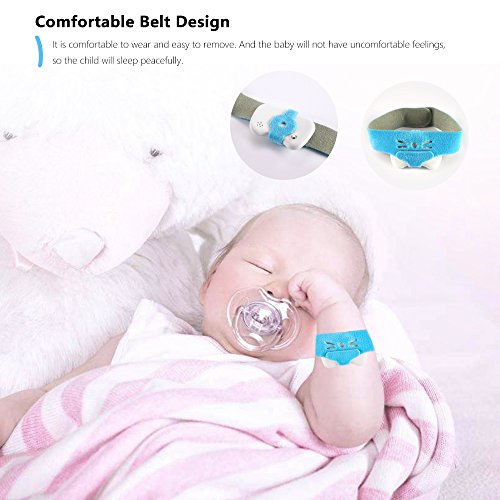 AOZBZ Baby Smart Thermometer, Wireless Bluetooth 4.0 Phone 24HR Fever Monitoring with Mobile Alerts, History Record (White) ()