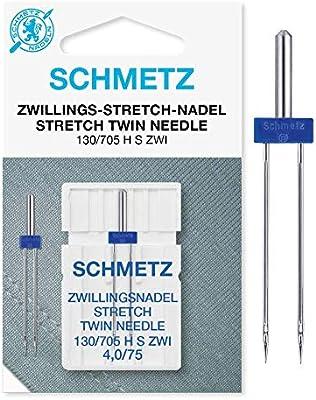 Schmetz Aguja de máquina de coser elástica 4.0 X 75: Amazon.es: Hogar