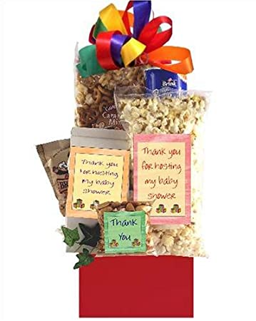 baby shower hostess thank you gift basket