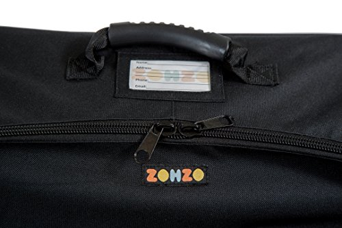 ZOHZO Car Seat Travel Bag — Adjustable, Padded Backpack for Car Seats — Car Seat Travel Tote — Save Money, Make Traveling Easier — Compatible with Most Name Brand Car Seats (Black with Black Trim) by Zohzo (Image #8)