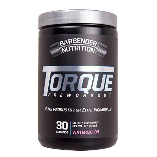 Barbender Nutrition Torque Preworkout Powder – Best Pre-Workout Energy Supplement for both Men and Women – Increase Energy, Pump, Focus, and Endurance – N.O Booster – WaterMelon 30 servings