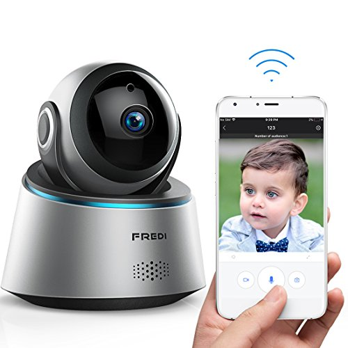 FREDI Wireless Camera Baby Monitor 1080P HD Wifi IP Camera With Two-Way Talking,Infrared Night Vision,Pan Tilt,P2P Wps Ir-Cut Nanny Security Camera Motion (Digital Infrared Connection)