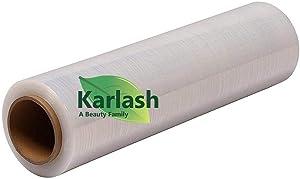 Karlash Shrink Wrap 1 Roll (1500 ft X 20, 80 Gauge) Stretch Film Plastic Wrap Industrial Strength Hand Stretch Wrap, 20
