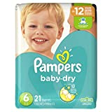 Pampers Baby-Dry Disposable Diapers Size 6, 21 Count, JUMBO