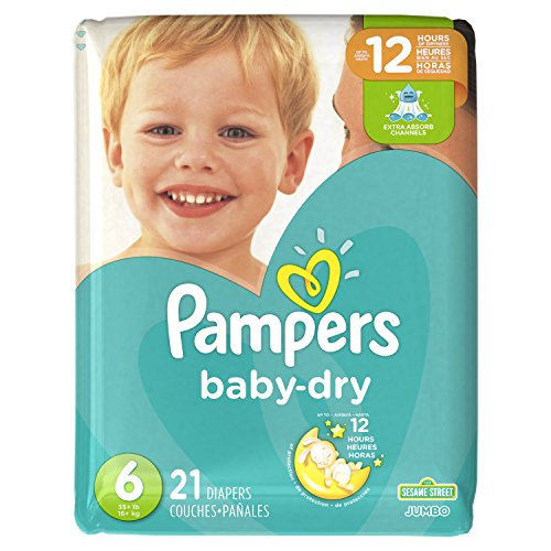 Diapers Size 6, 21 Count - Pampers Baby Dry Disposable Baby Diapers, Jumbo