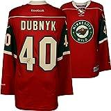 Devan Dubnyk Minnesota Wild Autographed Red Reebok Premier Jersey - Fanatics Authentic Certified - Autographed NHL Jerseys