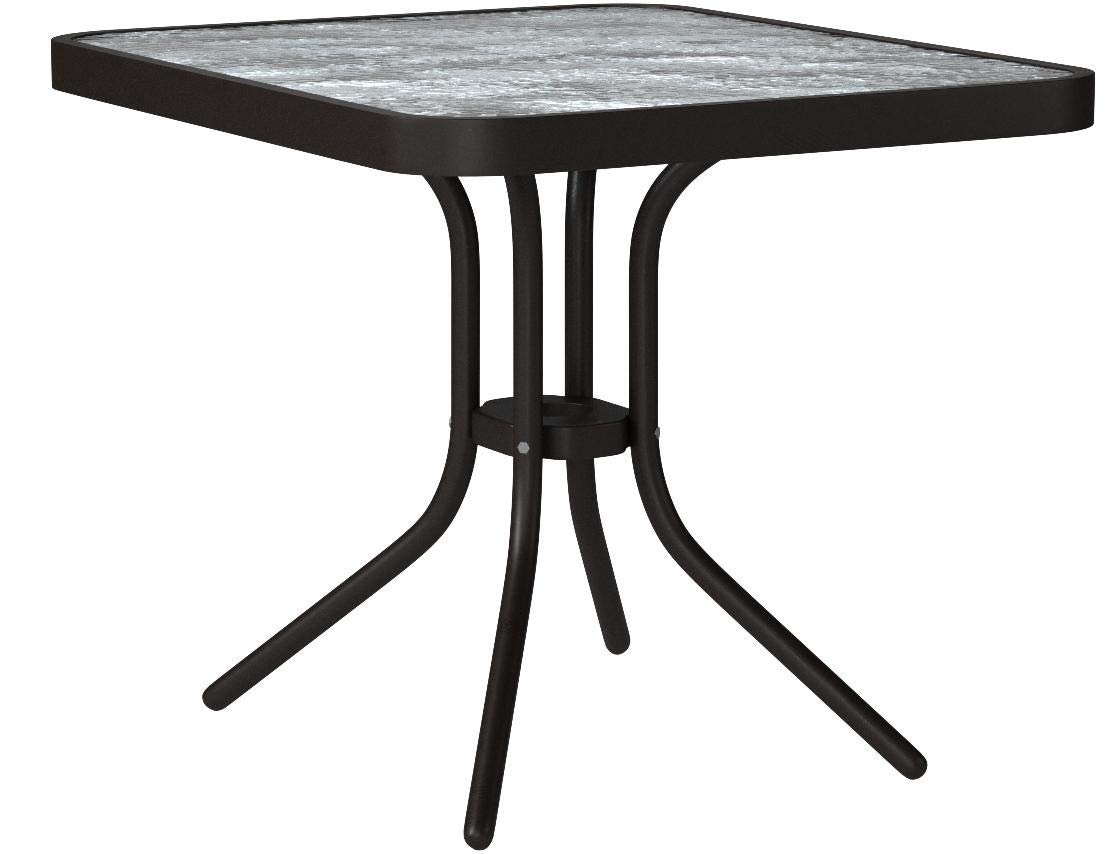 Oakland Living Glass Top Side Table, 20-Inch, Coffee