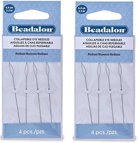 Beadalon Collapsible Eye Needles 2.5-Inch Medium (2 Pack)