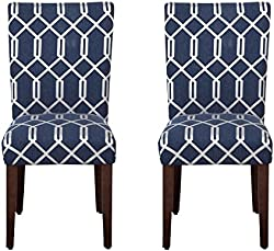related image of HomePop Parsons Classic Upholstered Accent Dining Chair