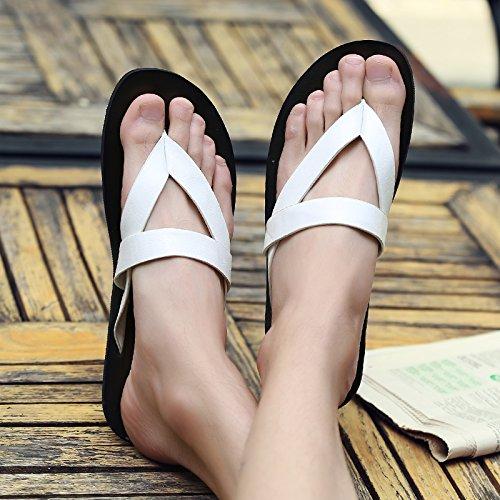 da AIHUWAI Parole Sandali Sandali Business Sandali uomo White Pantofole Skid Sandali Sandali Tow da Uomo uomo estivi PpPwrzqX