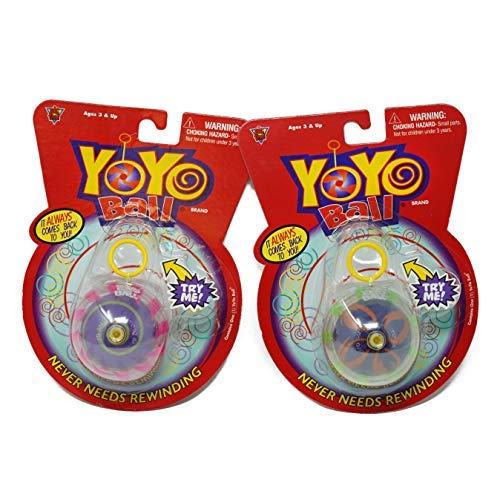Big Time Toys Yoyo Ball Automatic Return Yoyo - 2 Pack - Colors Will Vary, Multicolor -
