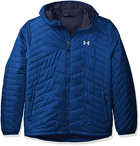 Under Armour hombres Coldgear Reactor con capucha de la chaqueta Heron/Midnight Navy