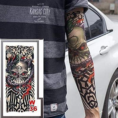3 unid Nuevas Mangas de Tatuaje Calcetines de Brazo elástico ...