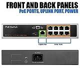 BV-Tech 9 Port PoE Switch (8 PoE Ports | 1 Uplink Port) – 120W – 802.3af