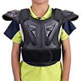 WINGOFFLY Kids Chest Spine Protector Body Armor Vest Protective Gear for Dirt Bike Motocross Snowboarding Skiing, Black L