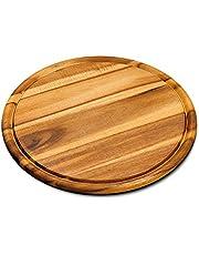 Kesper vleesborden van acaciahout, FSC-gecertificeerd, rond, met sapgoot, Ø 30 x 1,5 cm, 1 stuk