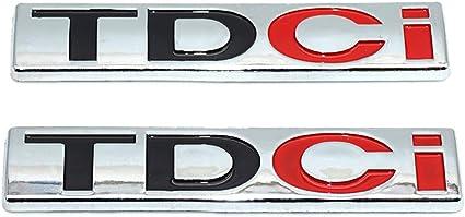 XCBW Emblema del Distintivo dellautomobile del Metallo TDCi di 2Pcs 3D Adesivi per Decalcomanie per Baule Posteriori Laterali Adatti per J-iangling F-ORD