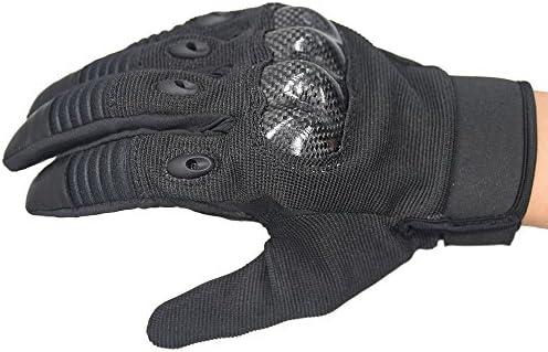 オートバイグローブ オートバイのフルフィンガータッチスクリーン手袋アウトドアライディングフルオフロード機関車の保護落下防止通気性手袋黒と緑 グローブ (色 : Black, Size : L)