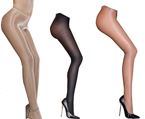 c2a523fb951 Amazon.com  Dance Tights Socks Shaping Stockings Oil Shiny Stockings ...