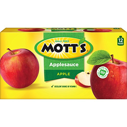 (Mott's Applesauce, 3.2 Ounce Pouch, 12 Count (Pack of 4))