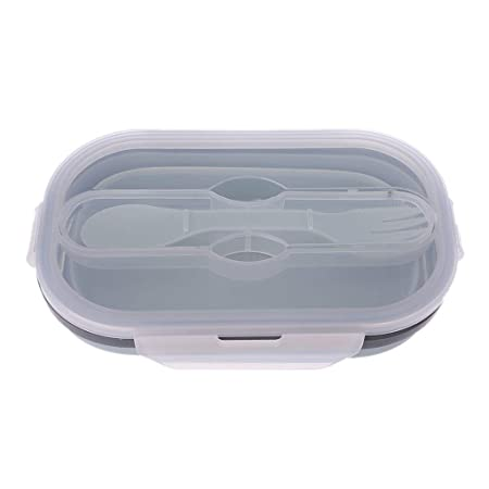 llwei258 Bento – Fiambrera Plegable de Silicona, Recipiente para ...