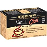 Bigelow Vanilla Chai Tea, 20-Count Boxes (Pack of 6)