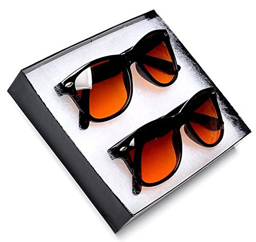 fd00a65d957 Sunglass Spot- Blue Blocking Driving Horn Rimmed Sunglasses Amber Tinted  Lenses - Buy Online in Oman.
