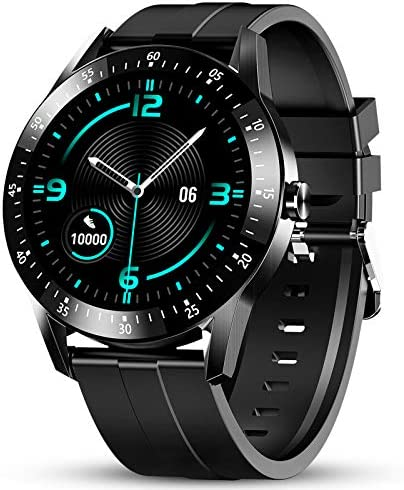 GOKOO Smart Watch Men, Smart Watches Fitness Tracker Mens with Blood Pressure Monitor Heart Rate Sleep Compatible with iOS and Android Phones Waterproof Pedometer Calorie Counter Running 1