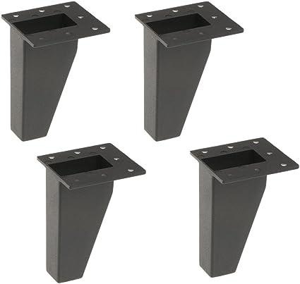 Chaises Table Basse FITYLE Jambes De Meubles En M/étal De 4 Morceaux Pour Des Sofas Blanc,10cm