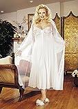 Plus Size Sexy Long Gown Peignoir Set Lingerie