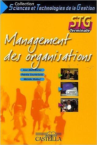 Lire Management des organisations Tle STG pdf
