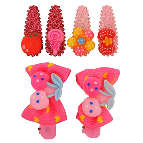 [Maayra Kids Tic Tac Hair Clips Fruits in Multicolour for Dailywear Pack of 6] (Benefit Ballet Costumes)