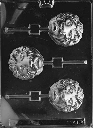 Cybrtrayd Life of the Party A107 Lion Lolly Chocolate Candy Mold in Sealed Protective Poly Bag Imprinted with Copyrighted Cybrtrayd Molding Instructions