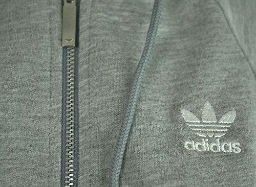 Adidas Originals S Crop con cappuccio Giacca donna Hoody Felpa Grigio