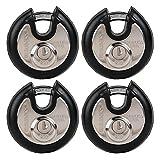 Brinks 673-70401 Discus Lock, 4 Pack (All Keyed Alike)