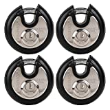 BRINKS Home Security 673-70401 Discus Lock 4 Pack, All Keyed Alike