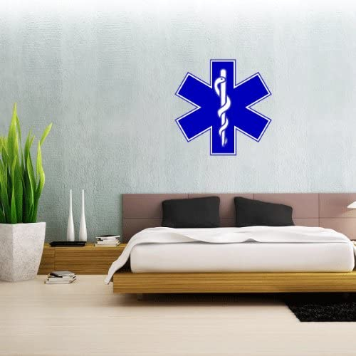 """Star Of Life Medical Ems Emt Wall Decal Large Vinyl Sticker 23/"""" x 23/"""""""