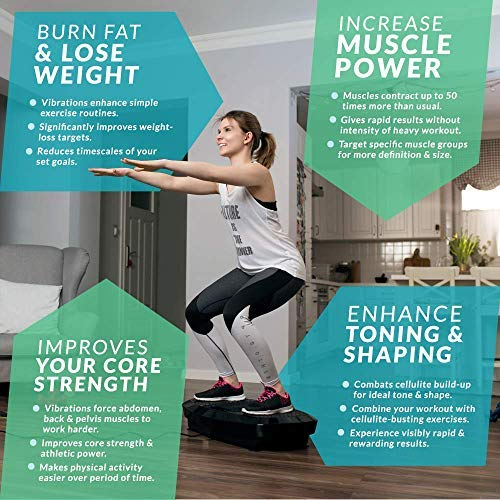 Bluefin Fitness Dual Motor 3D Vibration Platform   Oscillation, Vibration + 3D Motion   Huge Anti-Slip Surface   Bluetooth Speakers   Ultimate Fat Loss   Unique Design   Get Fit at Home by Bluefin Fitness (Image #5)