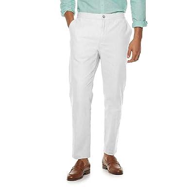 27e499ad11b386 Marc Anthony Men's Slim-Fit Linen-Blend Pants at Amazon Men's Clothing  store: