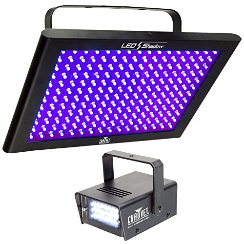 Chauvet DJ LED SHADOW / Club DMX 512 3 CH. Blacklight Panel LEDSHADOW + Strobe by Chauvet