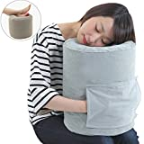 SmartTravel Travel Pillow Compact Inflatable Flight Sleep Pillow and Air Foot rest Dual use (2. L size (for those more than 5'7'' tall))