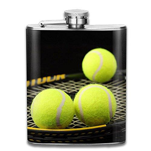 Bacchus-G Tennis Unisex Hip Flask For Liquor Stainless Steel Bottle Alcohol 7oz