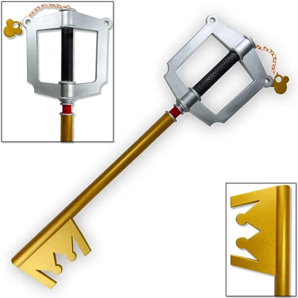 sanyicos 88CM 34inch 1:1 Scale Pu Foam Kingdom Heart Keyblade Keychain Prop Replica