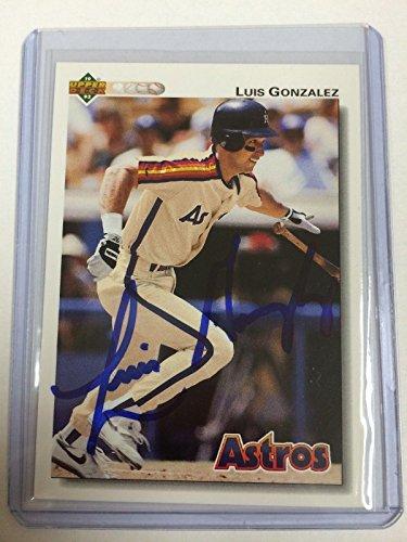 CERTIFIED Luis Gonzalez signed autograph auto 1992 Upper ...