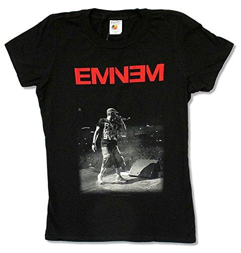 Krissry Mens Juniors Eminem Bad Meets Evil Black Baby Doll T Shirt Black XXXX-Large