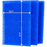 MicroPower Guard Replacement Filter Pads 24x30 Refills (3 Pack) BLUE