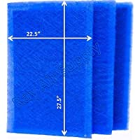 Dynamic Air Cleaner Replacement Filter Pads 24X30 Refills (3 Pack)